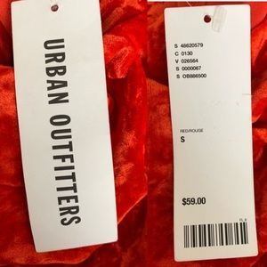 Urban Outfitters Dresses - NWT Urban Outfitters Ice Crusher Red Velvet Dress